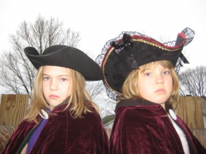Annabelle and Mirabelle are serious about hats