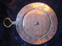 mini decoder disk out of copper and brass