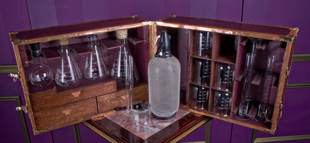 steampunk portable bar